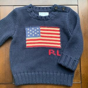 Ralph Lauren Americana Sweater 9M 🇺🇸 (& ISO 2T)